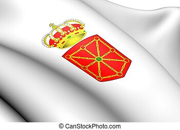 Navarra Coat of Arms, Spain. Close Up.
