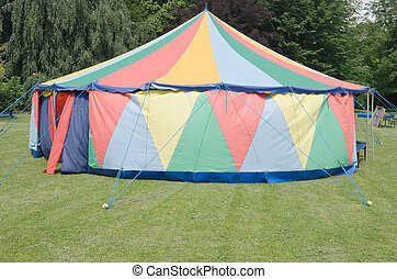 Small Circus Tent - Small Colorful Circus Tent Alone in a...