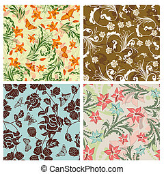 seamless floral pattern - Seamless vector floral pattern For...