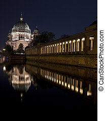 View of the Berliner Dom and part of the Old National...