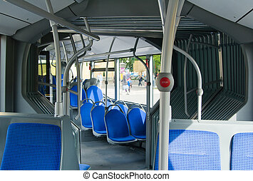 Salon of contemporary city bus - Salon of contemporary city...