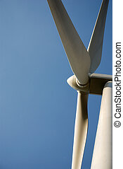 Detail of a windturbine - Windturbines producing clean...
