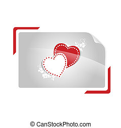 hearts in shutter photo frame