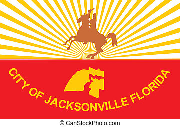 Jacksonville city flag - Various vector flags, state...