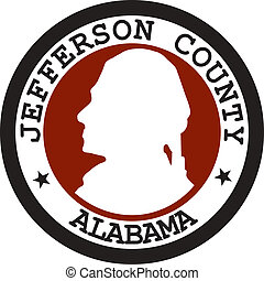 Jefferson county seal - Various vector flags, state symbols,...
