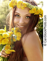 Attractive young summer girl