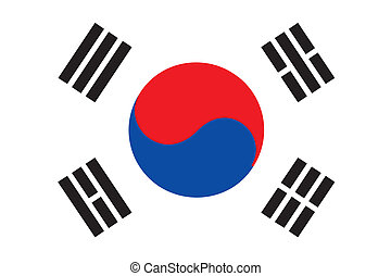 Korea rep flag - Various vector flags, state symbols,...