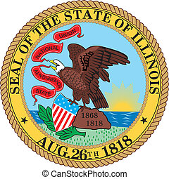 Illinois seal - Various vector flags, state symbols, emblems...