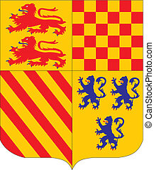 G correze dep - Various vector flags, state symbols, emblems...