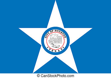Houston city flag - Various vector flags, state symbols,...