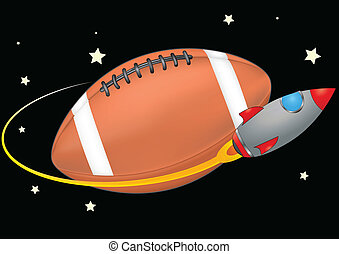 space football - illustration of spacecraft that orbits a...
