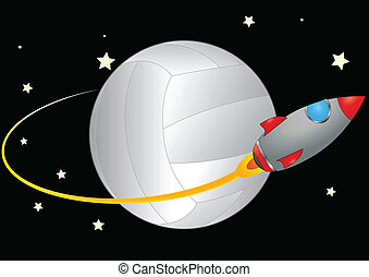 space volley - illustration of spacecraft that orbits a...