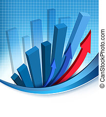 Business abstract background with financial graph Vector...