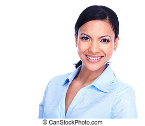Young business woman - Young hispanic business woman...