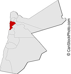 mapa, Jordan, Balqa, Highlighted