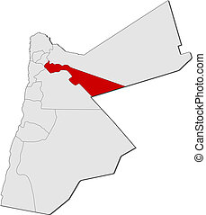 zarqa, mapa,  Highlighted,  Jordan