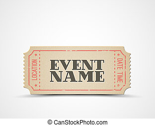 Vector ticket as a template for your event - Vector ticket...