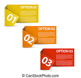 One two three - vector paper options