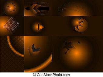 Variants of dark brown background w