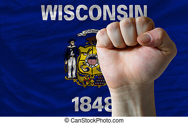 complete american state of wisconsin flag covers whole...