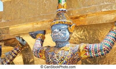 Sculpture of Rakshasa - Grand Palace, Bangkok, Thailand