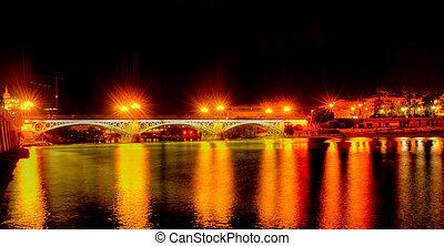 Guadalquivir, río, Puente, Triana, sevilla,...