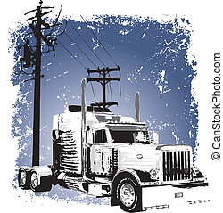 truck 4 - illustration for shirt printed and poster