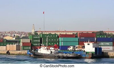 Cargo ontainers - Container stacks in Haydarpasa Port