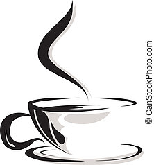 silhouette of cup coffee lover - beauty silhouette of cup...