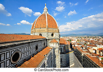 Duomo, Florence, Italy - View of the Duomo and the town of...
