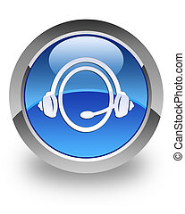 Customer Service glossy icon - Customer Service icon on...