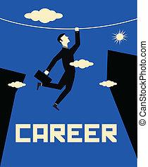 Businessman Career Climb