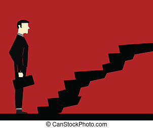 Businessman Stair