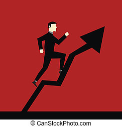 Businessman Up Arrow
