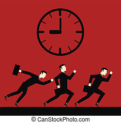 Businessman Running Time