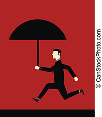 Businessman Umbrella