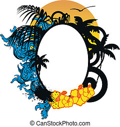 hawaiian sticker copyspace5 - hawaiian sticker copyspace in...