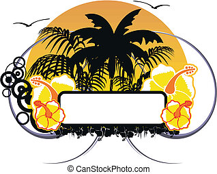 hawaiian sticker copyspace6 - hawaiian sticker copyspace in...