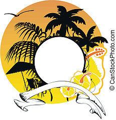 hawaiian sticker copyspace7 - hawaiian sticker copyspace in...