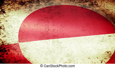 Greenland Flag Waving, grunge look