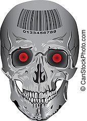 skull bone vector