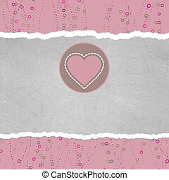 Valentine card with heart. EPS 8 - Valentine card with...