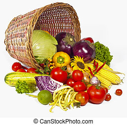Green-stuff. Fresh vegetables - vegetables with leaves in...