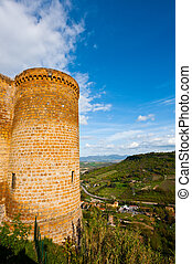 Castle Orvieto - Medieval Castle Orvieto over the Valley of...