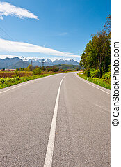 Road in Piedmont - Highway in Piedmont on the Background of...