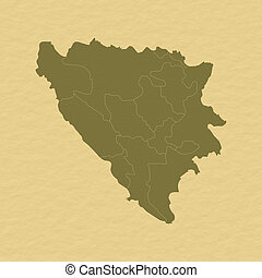 Map of Bosnia and Herzegovina - Political map of Bosnia and...