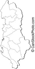 Map of Albania - Political map of Albania with the several...