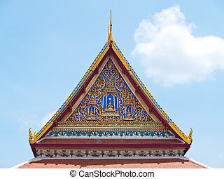 Temple gable roof