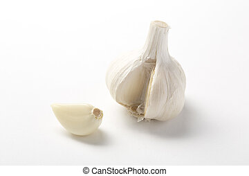 Garlic on the White background