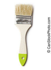 Paint brush on the white background